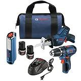 Bosch Max - Kit de taladro y destornillador de iones de litio (3/8 pulgadas, 2 velocidades)