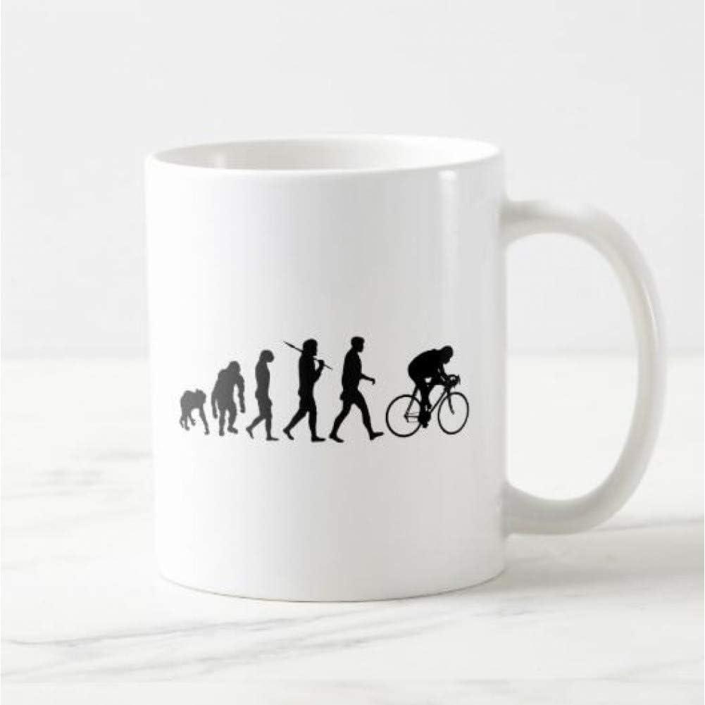 Erjialiu Evolución de la Bicicleta de montaña Taza de café Cerveza Taza de té Regalos de Ciclismo para Ciclistas de Deportes al Aire Libre Divertidos Regalos