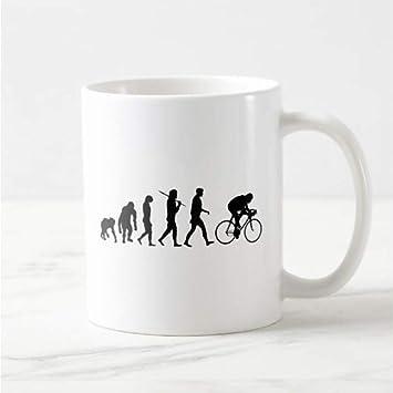 FESHD Novedad Bicicleta Evolución Taza de café Cerveza Taza de té ...