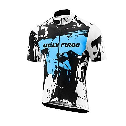 Uomo Maglia Ciclismo Abbigliamento Estivo Bici Manica Corta e Confortevole Traspirante