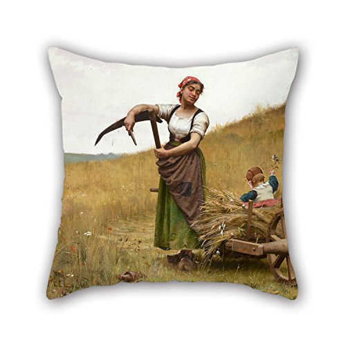 [Loveloveu Oil Painting Paul Peel - Adoration Pillow Covers ,best For Family,girls,bar,study Room,home Theater,wife 16 X 16 Inches / 40 By 40 Cm(double] (John Paul Jones Costumes)