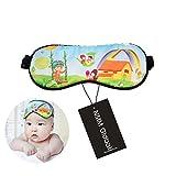 NMM Global 100% Mulberry Silk Sleep Eye Mask for Boys Girls,Sliky Smooth Sleep Mask for Infant Super Soft Cute Sleeping Mask for Kids (BABY CUTE CHILD)
