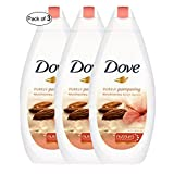 Dove Body Wash With Almond Cream And Hibiscus(500ml) (Pack of 3)