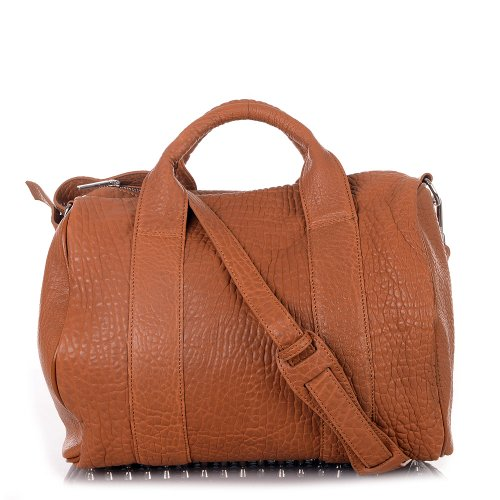 Sale / Letzte Modelle / Rouven / Cocoelle Boston Tote Bag / Cognac Braun / Damen Leder Handtasche Tasche Schultertasche / rockig modern extravagant / 33x30x18cm