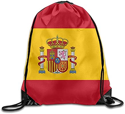 HAWOHT Drawstring Bandera de España Lindo Gimnasio Cordón Bolsas ...