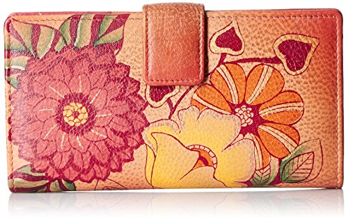 Anna by Anuschka Hand Painted Leather | Two Fold Wallet/Clutch | Summer Bloom