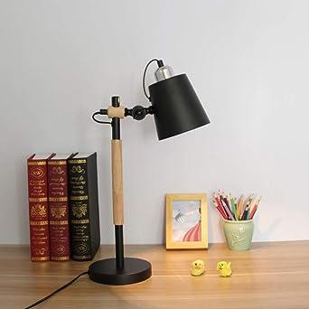 Lámpara De Mesa De Madera Modos De Brillo Protege A Ojos Memoria ...