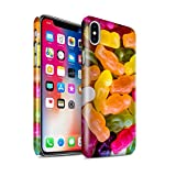 STUFF4 Gloss Hard Back Snap-On Phone Case for Apple iPhone X/10 / Jelly Babies Design / Confectionery Collection