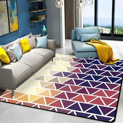QTDH Rug Nordic Abstract Carpet - Alfombra Lavable Antideslizante ...