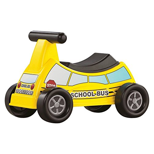 Kids Ride-on Toy - Kids Ride-on Car Toy - American Plastic Toys School Bus Ride-On Vehicle Yellow Toy Creative Educational Gift for Kids Boys Girls