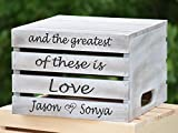 Distressed Rustic Wedding Cake Stand - Rustic Crate Personalized Wooden Cake Stand - Rustic Wedding Decor Wedding Cake Stand - Cake Stand - Cake Crate