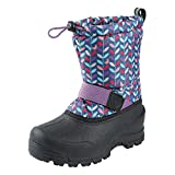 Northside Girls' Frosty Snow Boot, Navy/Purple, 5 Medium US Toddler