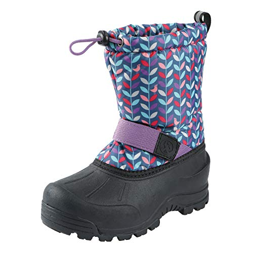 - Northside Girls' Frosty Snow Boot, Navy/Purple, 1 Medium US Little Kid