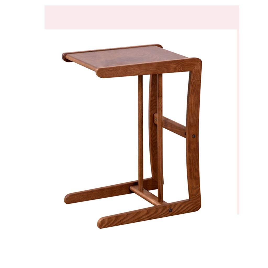 WDOPZMS Modern Removable Solid Wood Sofa Side Table Small Space Multi-Purpose Rack Bedside Table Living Room Bedroom Balcony Office End Table Easy to Assemble by WDOPZMS