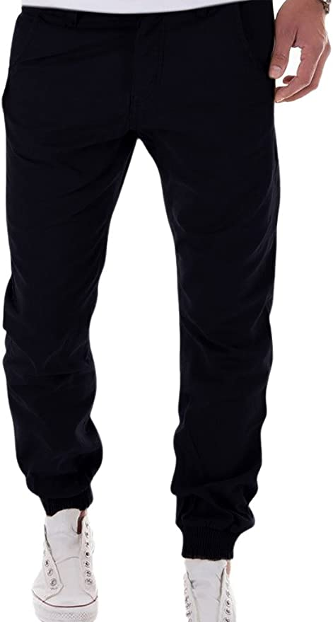 ZumZup Homme Cotton Chino Jogging Pantalon Sarouel
