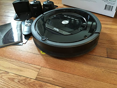 iRobot Roomba 880 Vacuum Cleaning Robot + 2 Virtual Wall Lighthouses (with Batteries) + Remote Control (with Batteries) + 3 Extra Side Brushes + Extra High Efficiency Filter + More