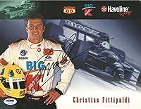 Christian Fittipaldi Signed 8x10 Photo COA NASCAR Formula One CART Champ - PSA/DNA Certified - Autographed NASCAR Photos by Sports Memorabilia