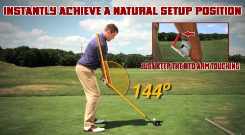 Tour Angle 144 Golf Swing Training Aid (Right Handed Golfer)