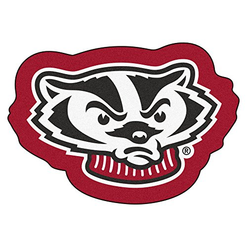 NCAA Wisconsin Badgers Football Fan Mascot Floor Mat 36
