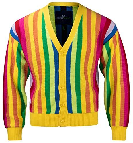 (Al Czervik Mens Rainbow Sweater by ReadyGOLF)