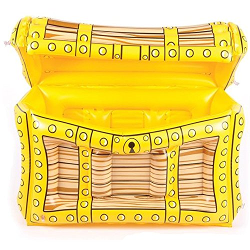 (Pirate Treasure Chest Inflatable Cooler - 2'X17 X13 Party Accessory for Kids Birthday, Halloween, Pool Games, Outdoor Activities, Event Decor, Drink Container - Water, Soda, Juice, Beer by)