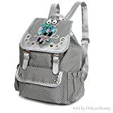 Women Lady Modern Simple Purse Vintage Classic School Backpack Multi Pockets Rucksack Gray Review