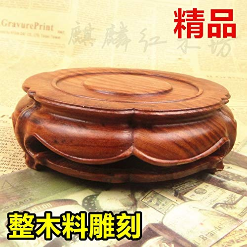 ZAMTAC Shipping Kylin Rosewood Crafts teapot Boutique Jade Stone Head Round The Whole Wood Base 2015 by ZAMTAC