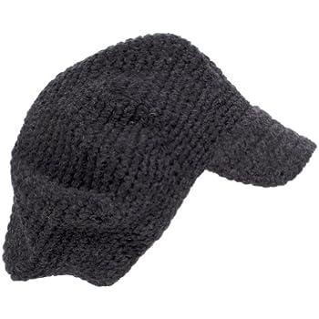 32f77c0af Amazon.com: POM London Crochet Baker Boy Hat: Charcoal: Clothing