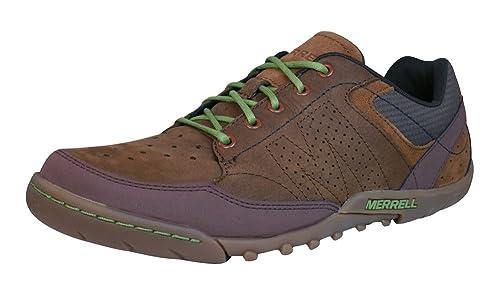 Merrell Sector Umber Zapatillas de Deporte de Cuero de los Hombres - Marrón-Brown-40: Amazon.es: Zapatos y complementos