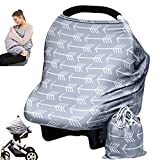 Baby Car Seat Cover canopy nursing and breastfeeding cover (arrows)