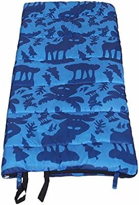 zhudj Sacos de dormir Primavera y saco de dormir infantil invierno exterior Viajes Camping Escuela Nap Varios Aplicaciones 160 * 65 cm Azul