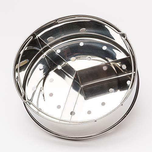 Steamer Basket, Pressure Cooker Accessories for Instant Pot, 6, 8 Qt - Food Steamer with Removable Divider, Egg - Removable Divider