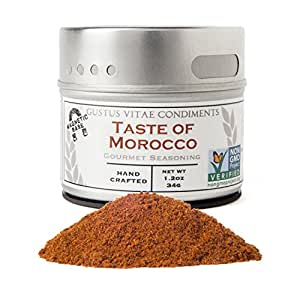 Taste of Morocco Seasoning | Non GMO Verified | Magnetic Tin | Small Batch Gourmet Spice Blend