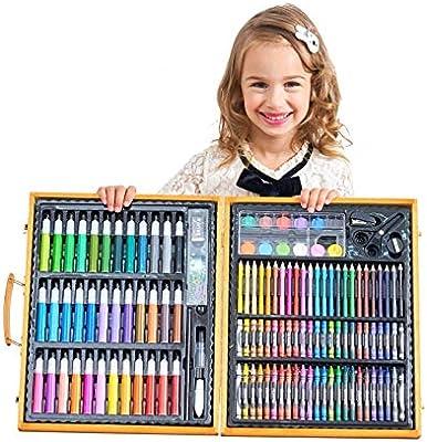 XSLY Madera Caja de 150pc Italiana Niños 12 Lápiz de Color Pintura ...