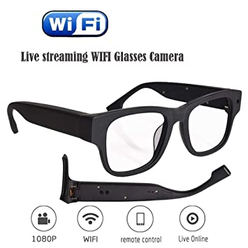 KEQI Live Streaming Glasses Camera 30M WiFi Glasses with Digital Video  Recorder Portale Security Cam