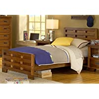 American Woodcrafters Heartland Captains Bed, Full