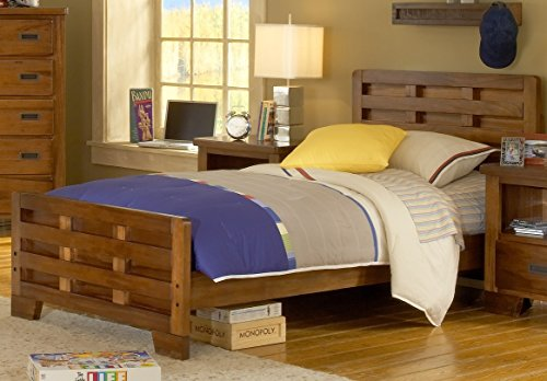 American Woodcrafters Heartland Captain's Bed, Full (Hardwood Full Captains Bed)