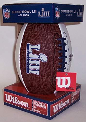 Super Bowl 53 LIII Wilson NFL Autograph Model Mini Size Football - Atlanta 2019 - New in Box from Creative Sports