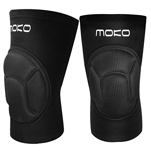 MoKo Protective Knee Pads, Professional Thick Sponge Anti-Slip Collision Avoidance Kneeling Kneepad, Outdoor Climbing Sports Riding Protector Suitable for Men Women Youth, 1 Pair, XL Size, Black