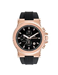 AIMANT Men's Monaco Rose Gold with Black Silicone Strap Watch GMO-180SI1-1RGB