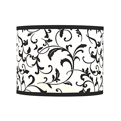 Black Drum Lamp Shade with Spider Assembly ()
