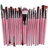 Software : 20 Piece Pro Makeup Brush Set Tools,SMYTShop Soft Cosmetic Make-up Toiletry Kit Wood Handle Make Up Brush Set (Pink)