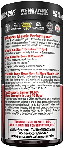 Six Star Creatine X3 Caplets, 60 Count (Packaging may vary)