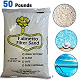 Palmetto Poolfilter-50 Superior Pool Filter Sand - 20# Grade - Formulated for All Residential, Commercial Filters-50 Pounds
