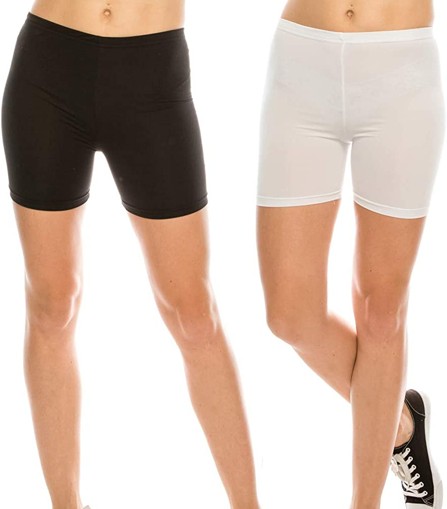 THEGARIM Slip Shorts 2 Pack Asian Size Cool and Smooth Panties for Women Boyshorts Leggings Yoga L ~ 7XL
