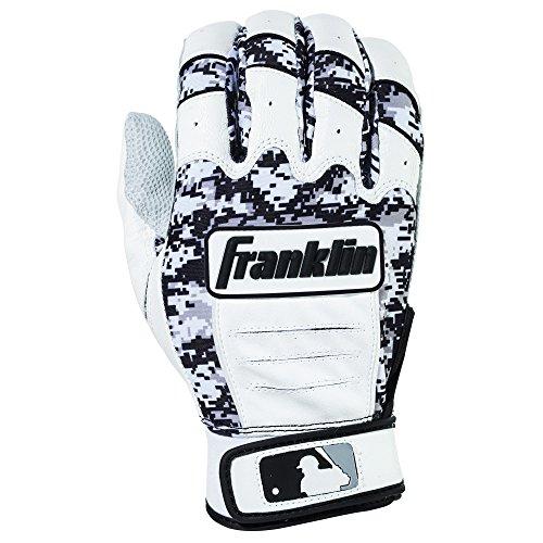 Large Black Pro Series (Franklin Sports Adult MLB CFX Pro Digi Series Batting Gloves, Pearl/Black, Large)