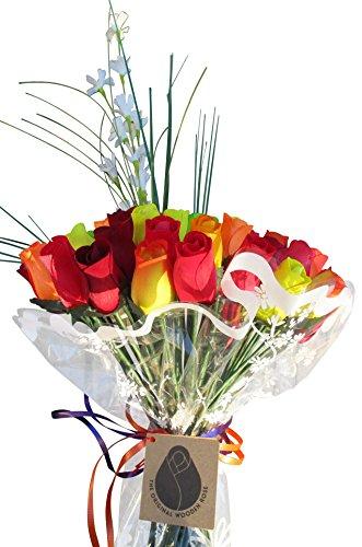 The Original Wooden Rose Fall Harvest Festival Thanksgiving Flower Bouquet Closed bud (3 Dozen) by The Original Wooden Rose (Image #6)