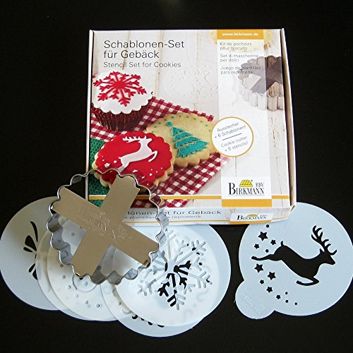 Christmas Cookie Cutter Stencil Set -