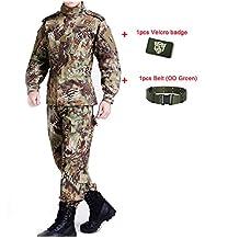 ATAirsoft(TM) Outdoor Camouflage Suit Combat Bdu Uniform Military Uniform Bdu Hunting Suit Wargame Paintball Coat+pants Mandrake Kryptek MR
