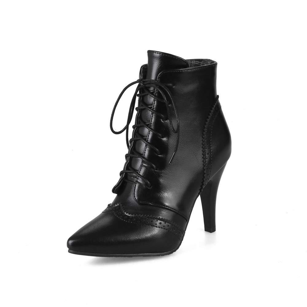 XQY Frauen High High High Heels Mode Europäischen Und Amerikanischen Römischen Stiefel Locke Windspitze Stiefel 34-43 f54518